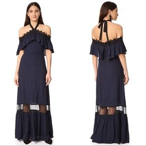 Alice + Olivia Mitsy Off The Shoulder Navy Dress 6